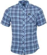 Firetrap Mens Casper Short Sleeve Check Shirt Bluebell Checked