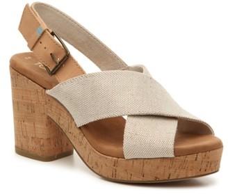 Toms Ibiza Platform Sandal