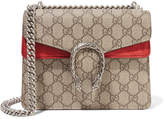 Gucci Dionysus Coated-canvas And Suede Shoulder Bag - Beige