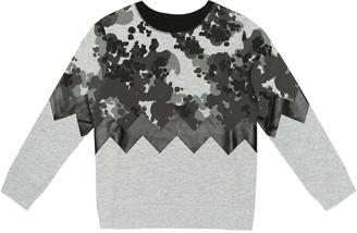 Stella Mccartney Kids Camo cotton-jersey sweatshirt