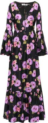 Borgo de Nor Florencia Floral-print Silk-satin Twill Maxi Dress