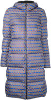 Missoni wavy print padded coat - women - Polyester/Goose Down/Duck Feathers - 40