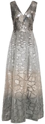 Alberta Ferretti Sequin-paneled Degrade Fil Coupe Silk-organza Gown