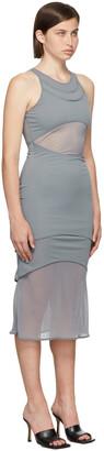 Dion Lee Blue Shadow Overlay Dress