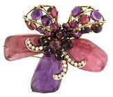 Iradj Moini Pink Tourmaline, Amethyst & Ruby Flower Brooch
