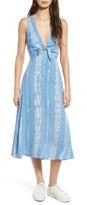 Lush Women's Tie Front Midi Dress