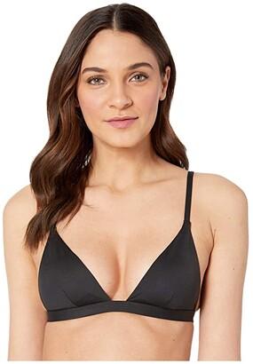 Vitamin A Swimwear Moss Top (Black EcoLux) Women's Swimwear