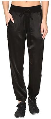 Hard Tail Classic Racer Pants (Black) Women's Casual Pants