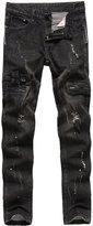 Feinste Men's Slim Fit Distressed Jeans