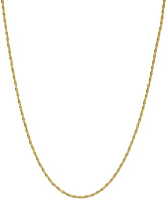 Primavera 24k Gold Over Sterling Silver Beaded Twist Chain Necklace