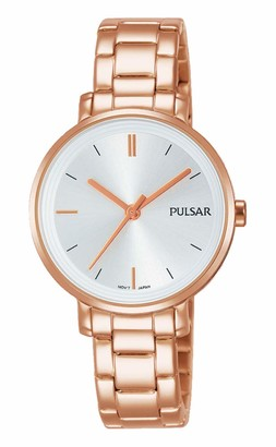 Pulsar Women's Analogue Analog Quartz Watch with Stainless Steel Strap PH8340X1