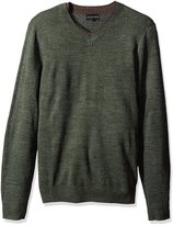 Geoffrey Beene Men's Long Sleeve Double V-Neck Sweater