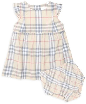 Burberry Baby Girl's N2 Reanne Flutter-Sleeve Vintage Check A-Line Dress Set