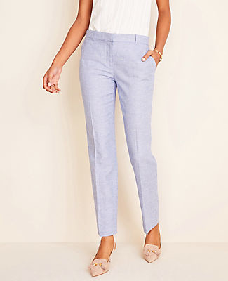 Ann Taylor The Petite Ankle Pant In Linen Twill