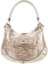 Anya Hindmarch Metallic Leather Braided Shoulder Bag