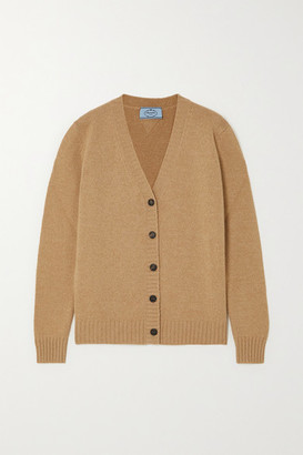 Prada Wool And Cashmere-blend Cardigan - Camel