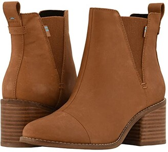 Toms Esme (Tan Leather) Women's Zip Boots