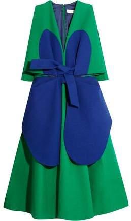 DELPOZO Two-Tone Cotton-Crepe Dress
