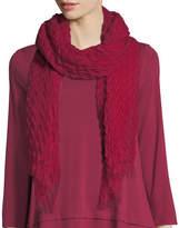 Eileen Fisher Pleated Wool/Silk Scarf