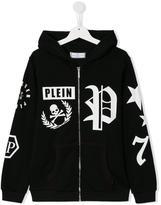 Philipp Plein Poetry zip hoodie - kids - Cotton - 14 yrs