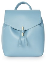 Topshop Blake Mini Faux Leather Backpack - Blue