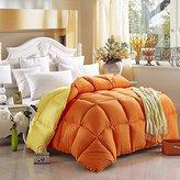 Colorful Mart Yellow And Orange Comforter Teen Comforter Kids Comforter Down Alternative Comforter, Queen