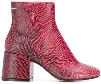 MM6 MAISON MARGIELA printed boots