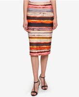 Tommy Hilfiger Sunset Stripe Pencil Skirt, Only at Macy's