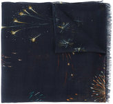 Valentino Garavani firework-print scarf