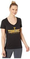 Champion College Tennessee Volunteers University V-Neck Tee (Black 1) Women's T Shirt
