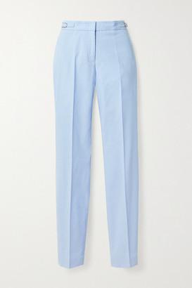 Gabriela Hearst Cotton-corduroy Straight-leg Pants - Light blue