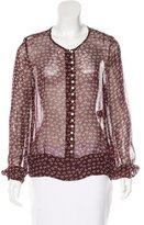 Etoile Isabel Marant Printed Button-Up Top