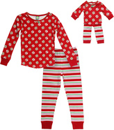 Dollie & Me Red Dot & Stripe Pajama Set & Doll Outfit - Girls
