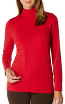 Rafaella Solid Cotton-Blend Turtleneck