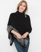 White House Black Market Border Poncho Sweater