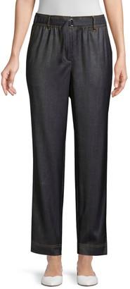 Lafayette 148 New York Dekalb Wool & Tencel Pants