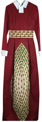Stella Jean Burgundy Cotton Dresses