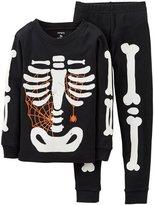 Carter's Boys' 2-Piece Glow-In-The-Dark Skeleton Cotton Pajama Set