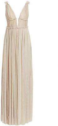 Mestiza New York Savannah Victoria Metallic Tulle Gown