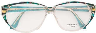 Givenchy Pre Owned Printed Cat-Eye Glasses