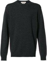 Marni contrast top stitch sweater - men - Cashmere - 50