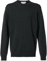 Marni contrast top stitch sweater - men - Cashmere - 52
