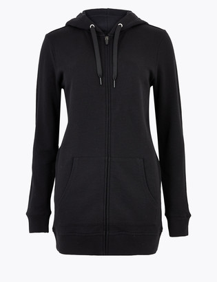 Marks and Spencer Pure Cotton Longline Hoodie