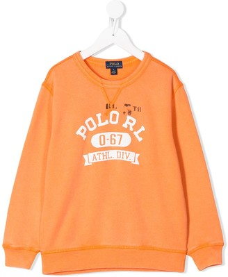 Ralph Lauren Kids Logo-Print Crew Neck Sweatshirt