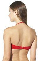 Mossimo Women's Mix and Match Twist Bandeau Swim Top -Poppy Red