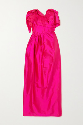 Preen by Thornton Bregazzi Zita Strapless Ruffled Silk-taffeta Dress - Pink