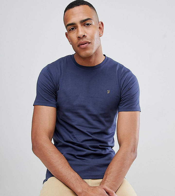 Farah Farris slim fit t-shirt with stretch in navy Exclusive at ASOS