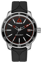 Reebok Forge 1.0 Stainless Steel and Silicone Black Strap Watch