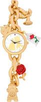 Disney Beauty and the Beast Womens Gold Tone Bracelet Watch-Pn2075jc