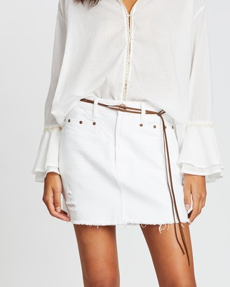 One Teaspoon Trucker Mid-Waist Skirt